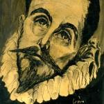 """Estudo sobre a obra de El Greco, """"El entierro del Conde de Orgaz"""". 1952"""