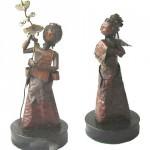 Escultura em bronze