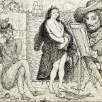 O pintor. Desenho a nanquim Medidas: 32 x 47 cm. 1965